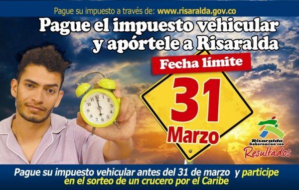 5 municipios risaraldenses autorizados para la liquidación y pago de Impuesto de Vehículo