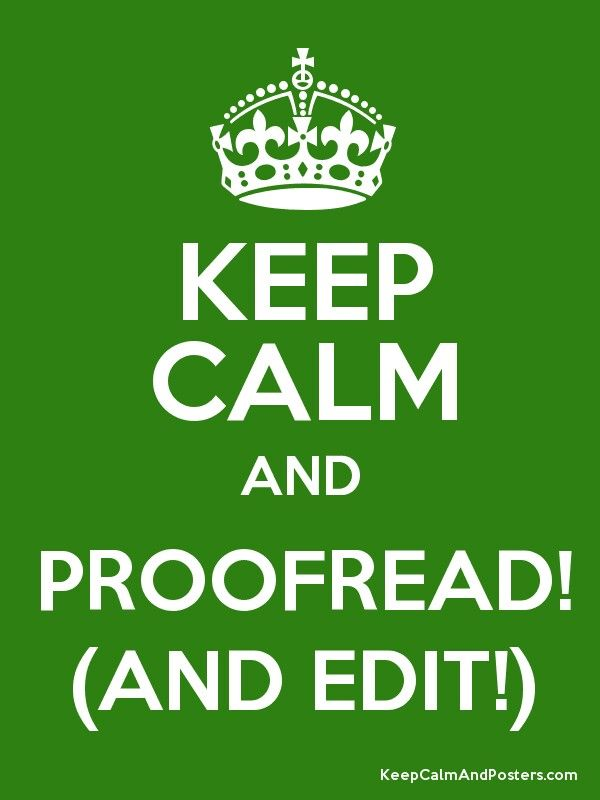 Proofread edit