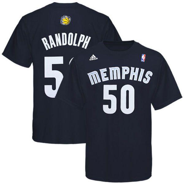 Zach Randolph Memphis Grizzlies adidas Net Number T-Shirt – Navy Blue - $22.39