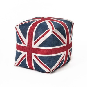 Union Jack seating cube. . .  Now featured on Fab. And on sale! For how long, I can't say.