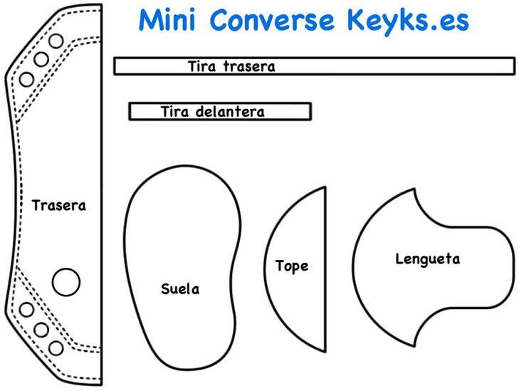 Mini Converse de foamy para dar de recuerdo en celebraciones | Aprender…
