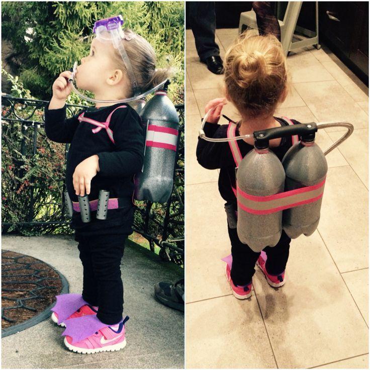 Disfraz de buceo para niños pequeños. Bricolaje