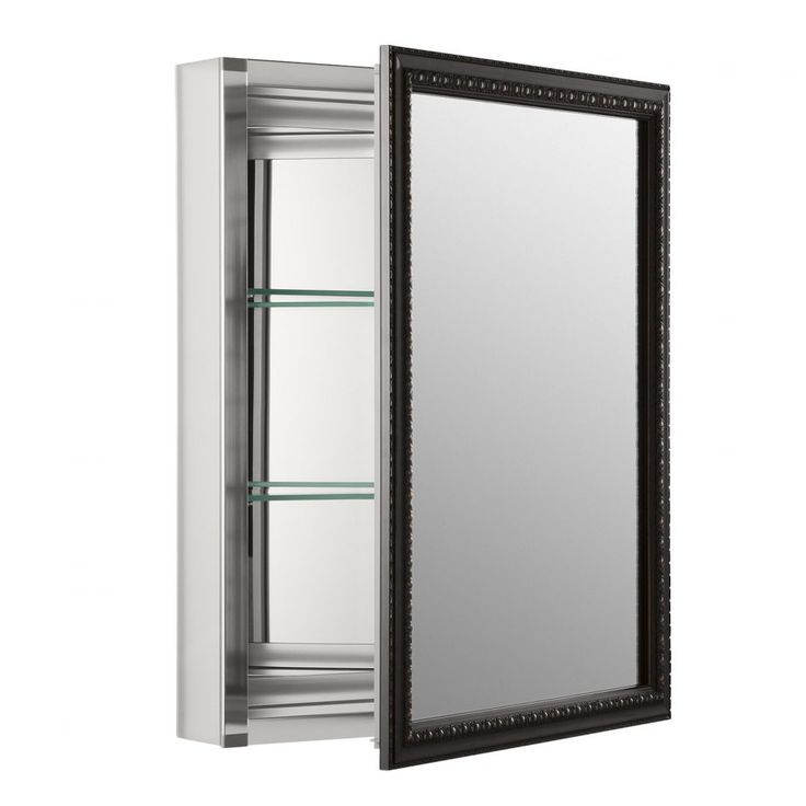 Fresh White Framed Mirrored Medicine Cabinet