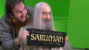 Here's 92 Year-Old Christopher Lee, Filming His Final Scene As Saruman