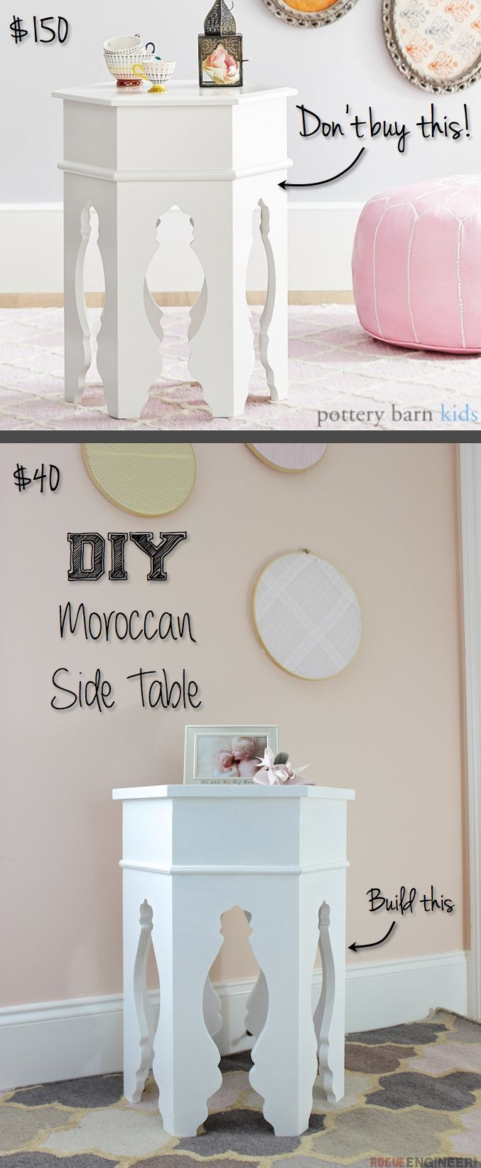 DIY Moroccan Side Table Plans   Pottery Barn Knock-off