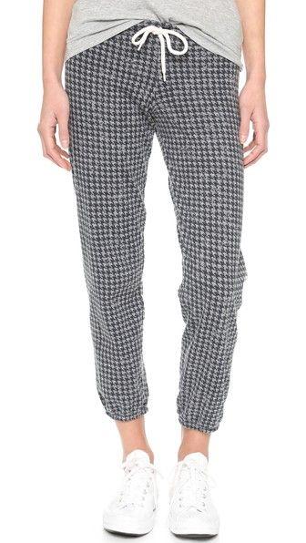 MONROW Винтажные спортивные брюки с рисунком «гусиные лапки»