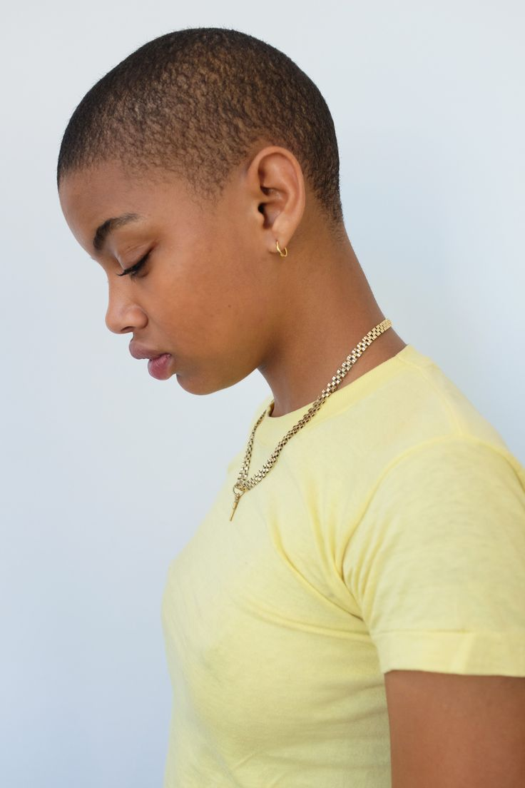 Now Casting Simone Slick Woods Thompson Shaved Hair