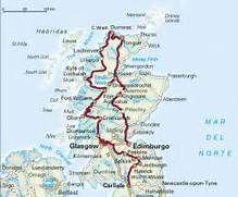 escocia turismo mapa