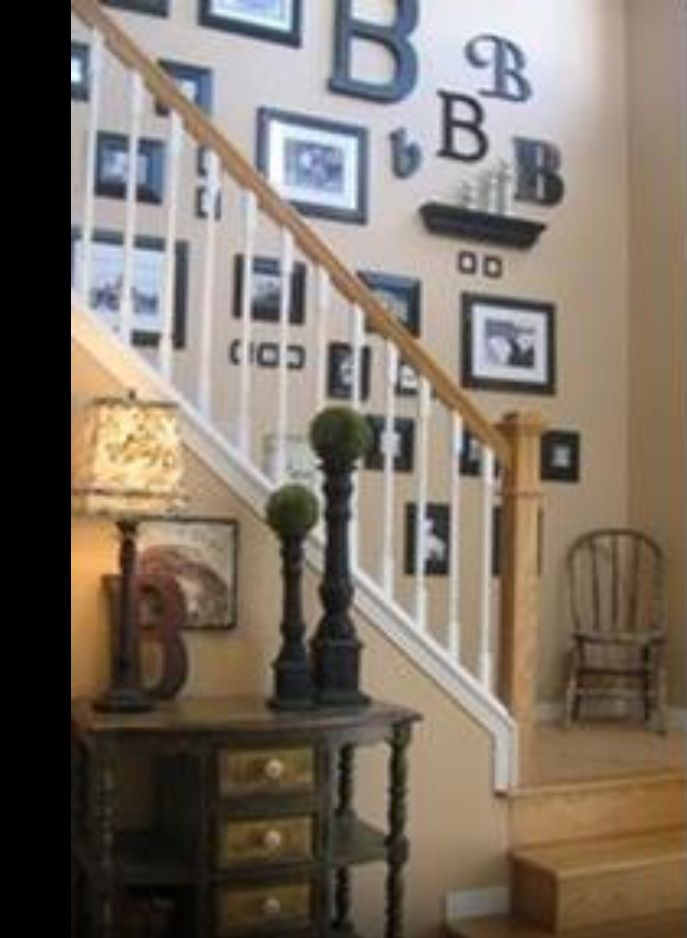 Framed pictures feature wall