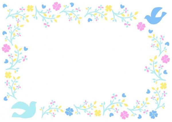 無料で使える可愛い花フレームのイラスト素材 イラストボックス 花 イラスト 花 フレーム 花 イラスト 無料