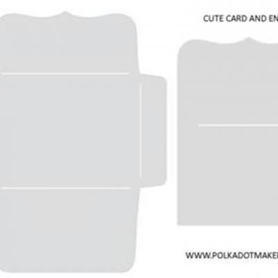 Cute Card and Envelope Template {FreeTemplate}