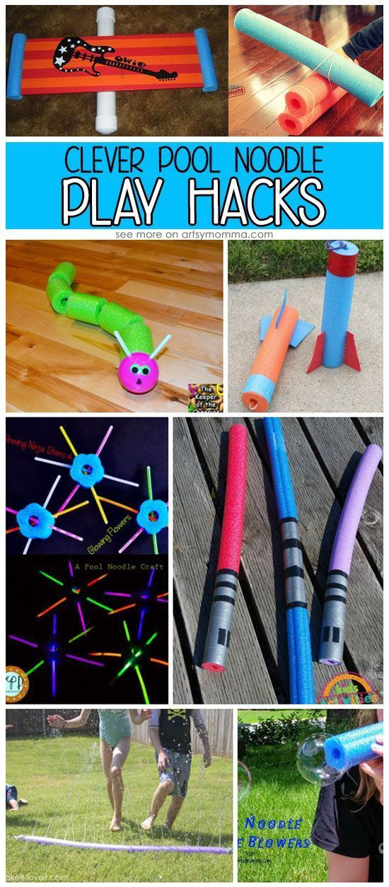 These pool noodle ideas are a fun way to use pool noodles without getting wet! These fun ideas are a great way to use pool noodles!
