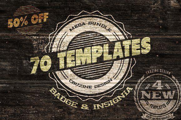 70 Logo / Badge / Insignia Templates by Cruzine on @creativemarket