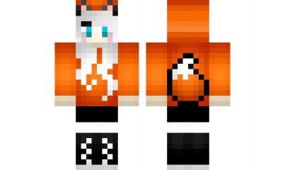 minecraft skin Red-fox-gurl …   Pretty fox girl   Minec…