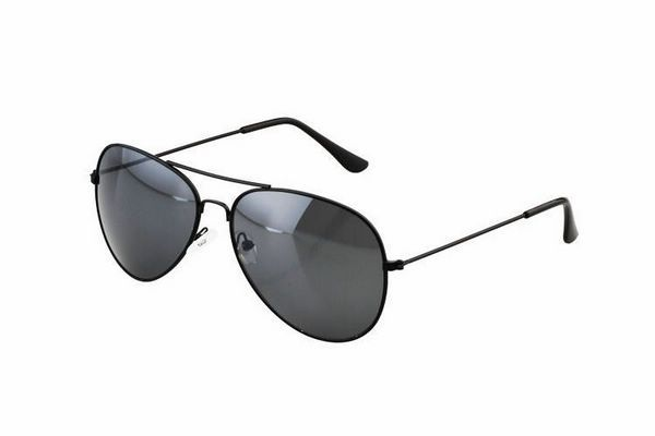 Cheap Aviator Sunglasses For Men / Women Metal Black Frame Gray Lens