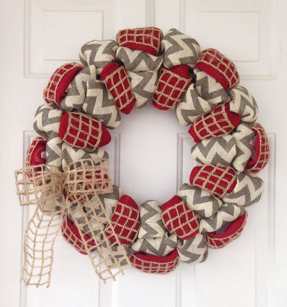 Hey, I found this really awesome Etsy listing at https://www.etsy.com/listing/160362116/everyday-chevron-burlap-wreath-summer