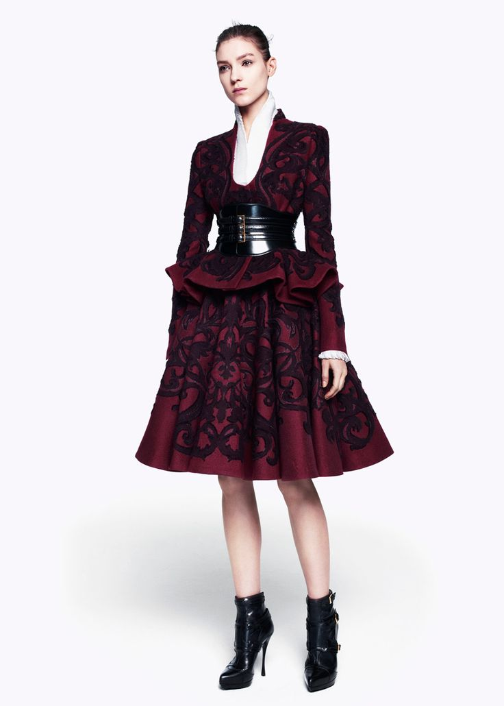 McQueen Pre-Fall 2012 - It's all about Burgundy.