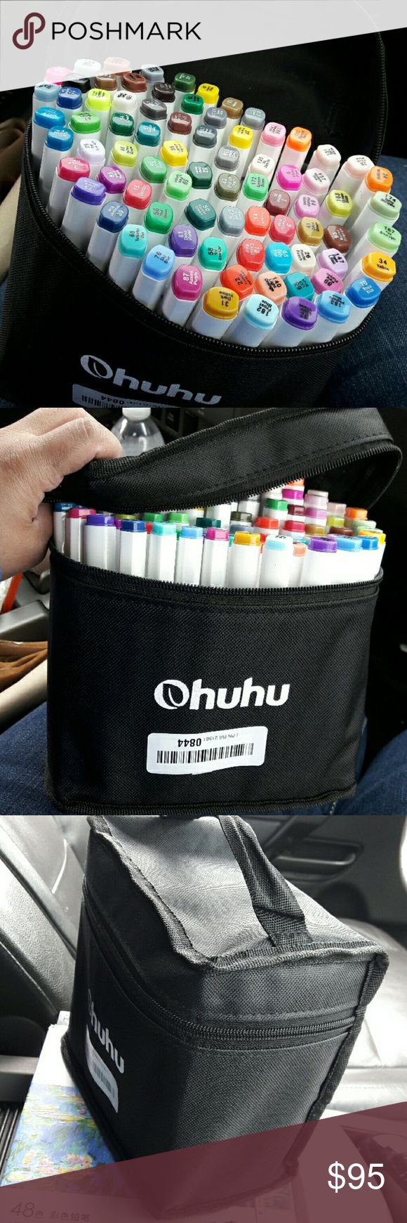 Ohuhu Markers Brand new in it's original carrying bag  a total of 80 markers! Lots of different color fine and thick tip on all markers! These are just like copic markers very good quality   Checkout my listings for more awesome stuff ohuhu markers  Accessories