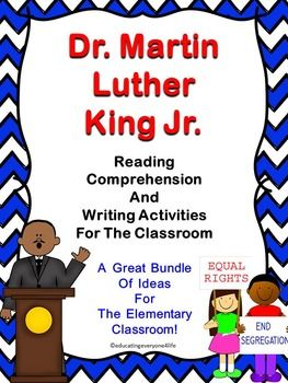 Dr. martin luther king reading comprehension