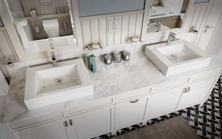 His and Hers vanities in family bathrooms are a must as suggested by Architect Phil Darby.