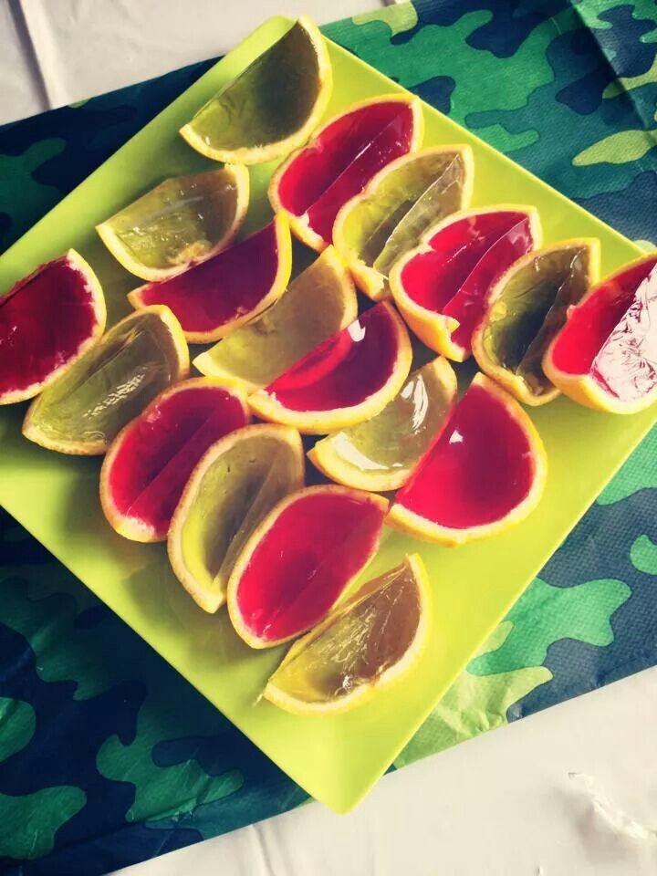 Jelly oranges kids will love.