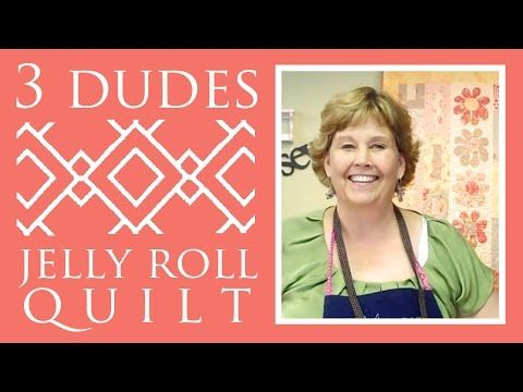 Amazing Jelly Roll Quilt Pattern by 3 Dudes!. Link download: http://www.getlinkyoutube.com/watch?v=L5Ixvjje310