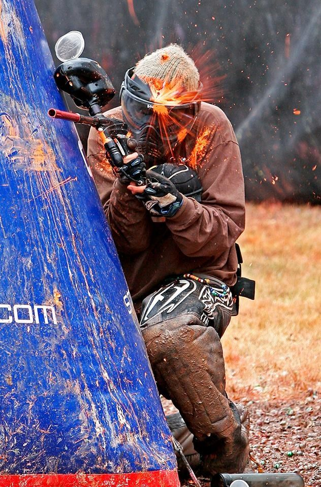 Boom #headshot -  best #paintball pic we've seen in a while