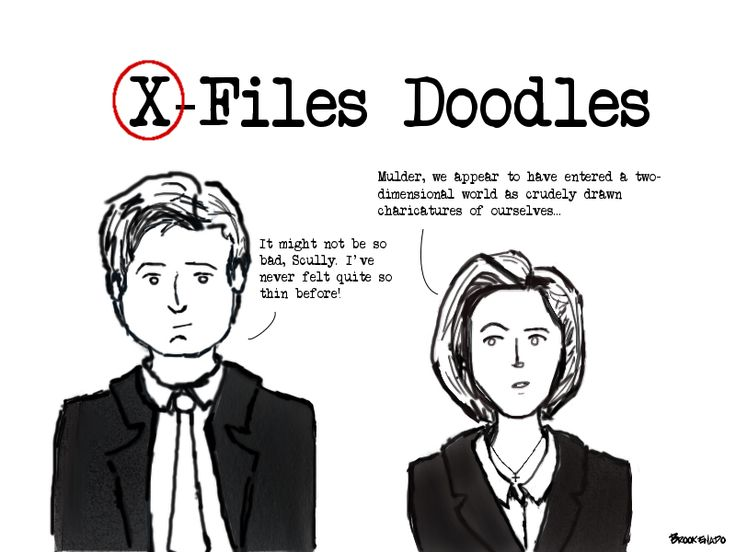 The X-Files Doodles #1 | The byproduct of #NewXPhile excitement as I've caught up on this amazing show. Bear with me...