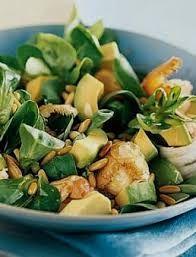 Insalata scampi, avocado e songino #ricette #insalate