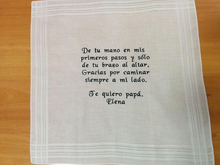 Pañuelo boda personalizado, pañuelo bordado, regalo padre, regalo suegro, regalo hermano, regalo personalizado de LaboresPili en Etsy
