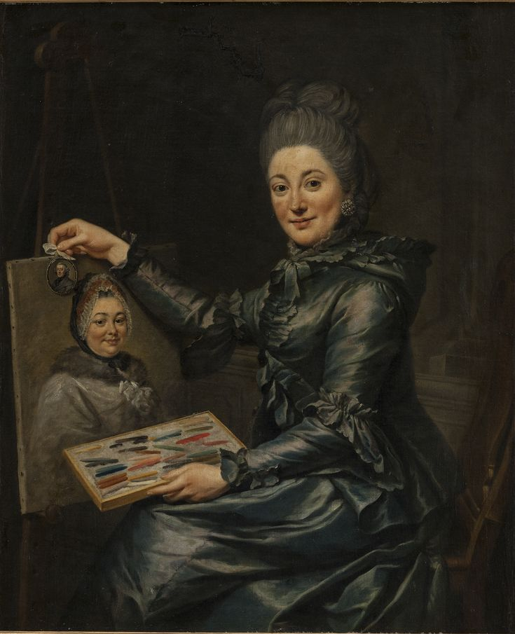 Johann Georg Ziesenis   German, Portrait of the Artist's Daughter Elisabeth, Married Lampe, 1731-1776 TECHNIQUE Oil on canvas REFERENCE KMS2040