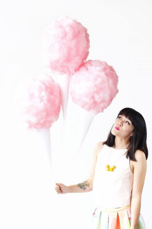 Add some of the pink fluff to your party decor with these cotton candy balloons for extra sweet vibes.