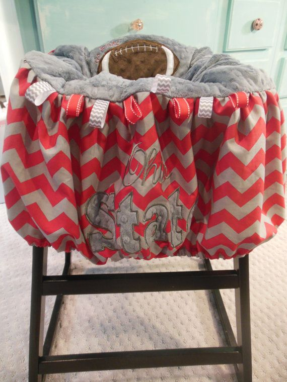 I want this someday Jessica Mohler!!!! :)    Ohio State Shopping Cart Cover by TWINSANDQUINN on Etsy, $55.00