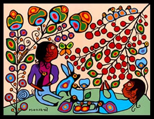 >>> Norval Morrisseau Facts, Articles & Art: Enjoying Summer's Abundance (1988) Norval Morrisseau