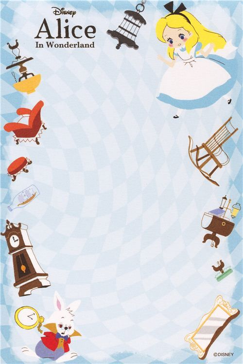 Alice in Wonderland Memo Pad with cards from Japan 4