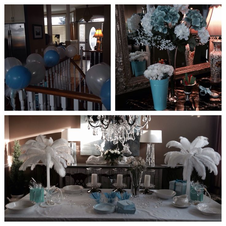 Tiffany blue themed wedding shower for Jonesie!