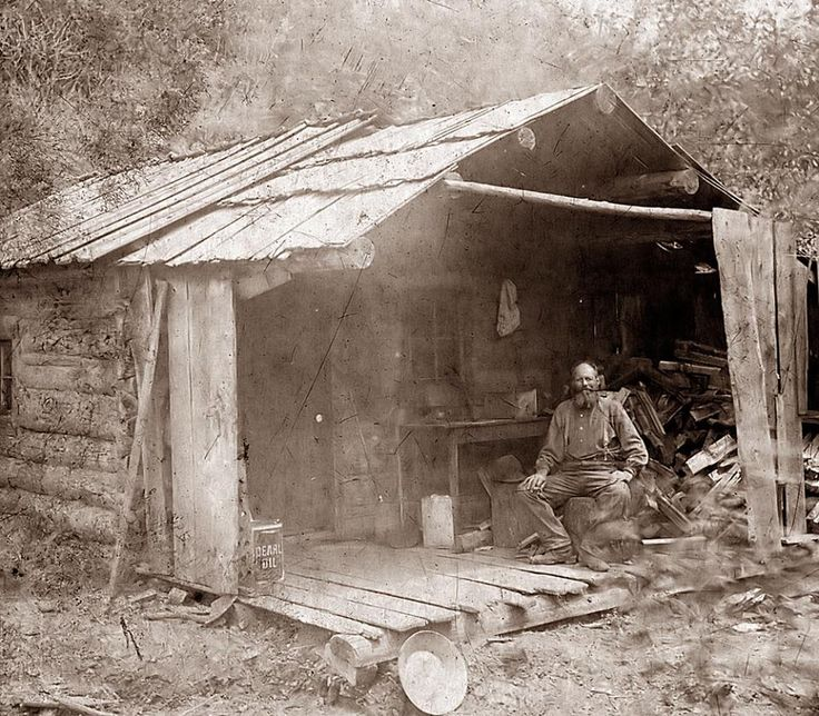 Being a working miner living in a shack was a tough but