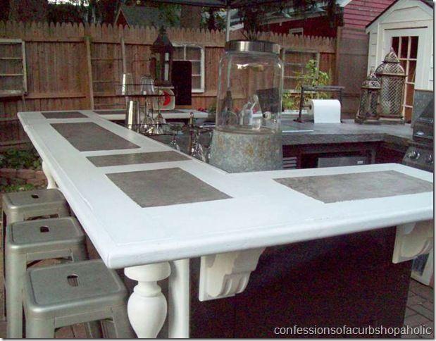 DIY Outdoor Kitchen made with doors etcOutdoor Kitchens Patios Diy, Diy Outdoor Kitchens, Recycle Outdoor Kitchens, Awesome Pin, Favorite Outdoor, Diy Outside Kitchens, Diy Backyards Kitchens, Awesome Outdoor, Outdoor Projects