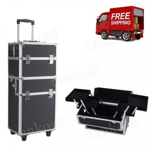 Cosmetic-Wheeled-Box-Rolling-Storage-Train-Makeup-Organizer-Pro-3-in1-Aluminum