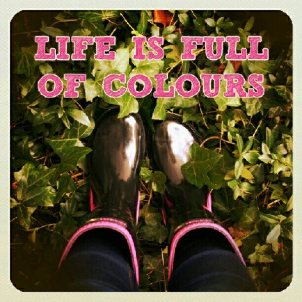 Life is full of colours! Botas de agua de Havaianas