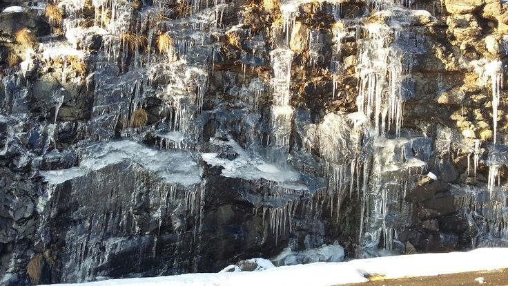 Ice crystals Maluti mountains. Lesotho.