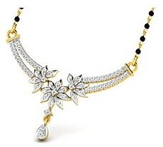 Sparkles 1.06 Cts Real Diamond Mangalsutra In 18K Gold - N11511