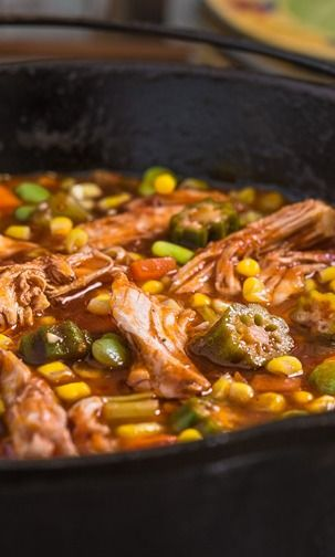 Brunswick Stew. I love this with Baking Powder Biscuits. :)