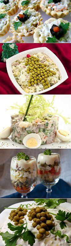 Идеи оформления и подачи салата Оливье / Простые рецепты