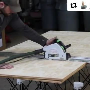 Outstanding rolling sheet good #shopcart #project starts out with cutting full sheets of #plywood down on a 4'x8' #CentipedeSupportXL #tracksaw #stand. Follow @john_malecki and check out the link in his profile to see this and more great videos. Repost:    Dropped a new video this morning on my Youtube channel. Imake a quick and simple rolling sheet good shop cart. Head over there and check it. LINK IN PROFILE #build  ・・・ (@get_repost)  #CentipedeTool #CentipedeSupport #temporary #woodshop