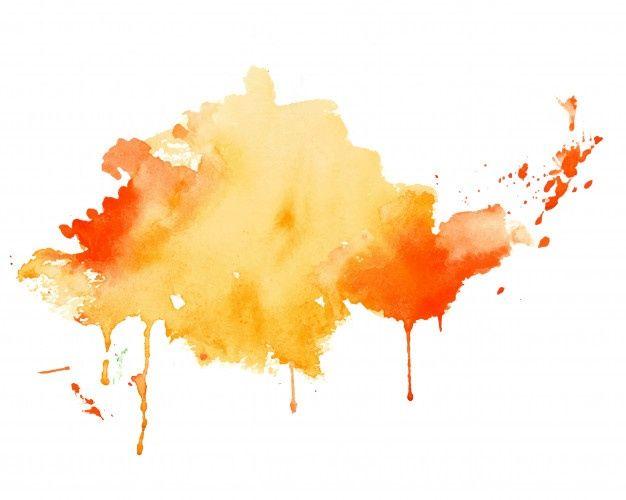 Lade Gelber Und Orange Aquarellspritzen Beschaffenheitshintergrund Kostenlos Herunter Watercolor Splash Watercolor Splash Png Watercolour Texture Background