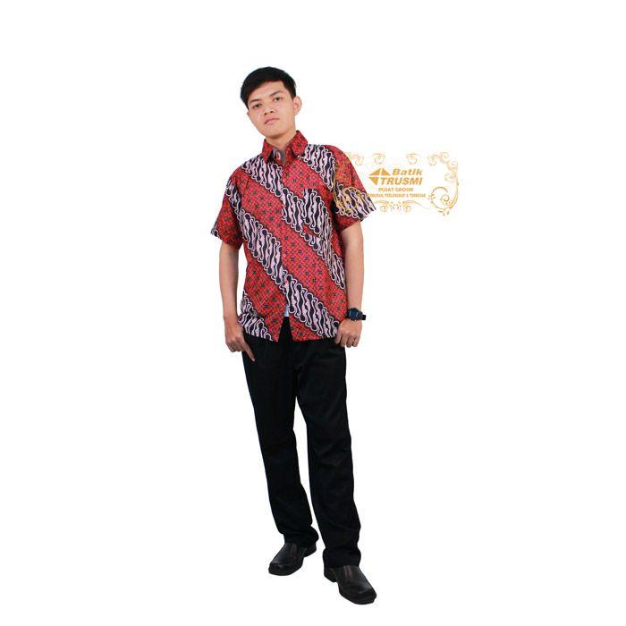 Ebatik HEM LN Lotus Merah batik Indonesia