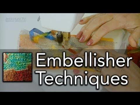 Machine Embellisher Techniques Ep.Q01 (HD) - YouTube