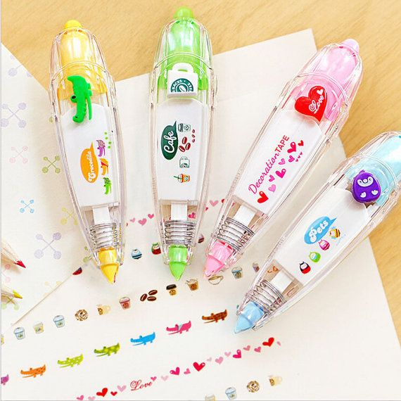 Cute Kawaii Stationery Correction Tape / Decoration Tape / Wite Out / School Supplies