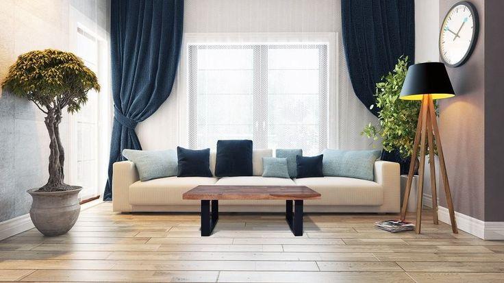 Moderne Sofabord til Stuen i Naturtræ | OBUZI